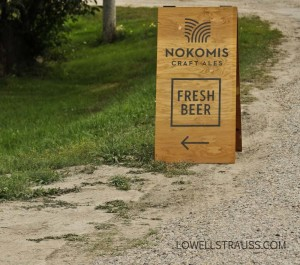 Nokomis Craft Ales road sign