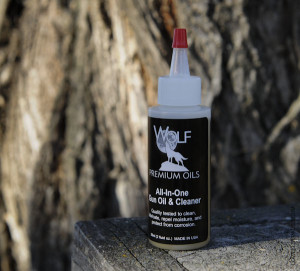 Bottle of Wolf Premium Gun Oil