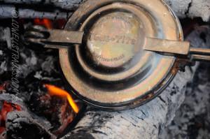 Toas-Tite pie maker in campfire