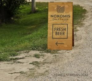 Nokomis Craft Ales road sign